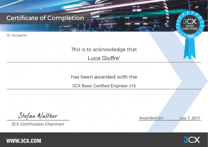 3CX Basic Certified Engineer