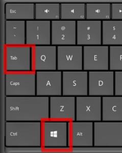 windows+tab